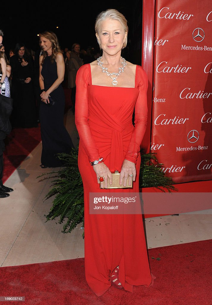 Actress Helen Mirren arrives at the 24th Annual Palm Springs International Film Festival Awards Gala at Palm Springs Convention Center on January 5, 2013 in Palm Springs, California.