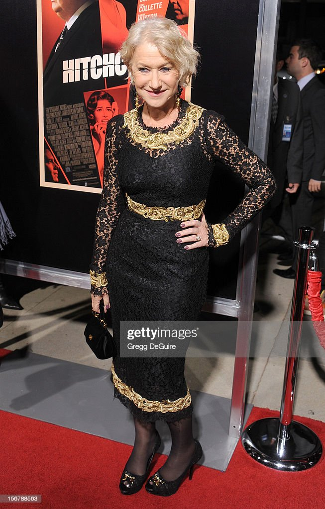 Actress Helen Mirren arrives at the Los Angeles premiere of 'Hitchcock' at the Academy of Motion Picture Arts and Sciences on November 20, 2012 in Beverly Hills, California.