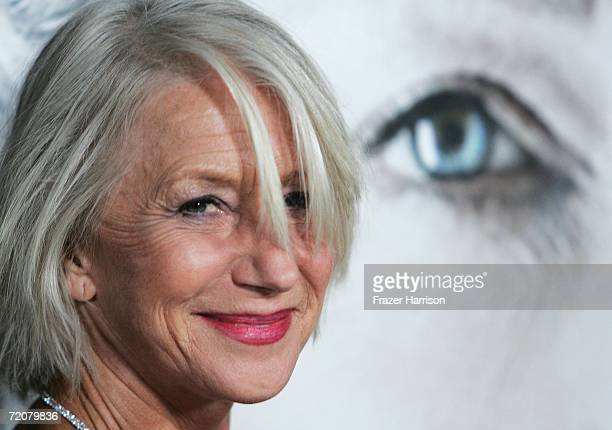 Actress Helen Mirren arrives at the Miramax Premiere Of 'The Queen' held at te Academy of Motion Pictures Arts and Sciences on October 03 2006 in Los...
