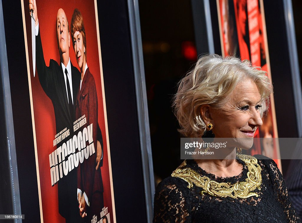 Actress Helen Mirren arrives at the Premiere Of Fox Searchlight Pictures' 'Hitchcock' at AMPAS Samuel Goldwyn Theater on November 20, 2012 in Beverly Hills, California.