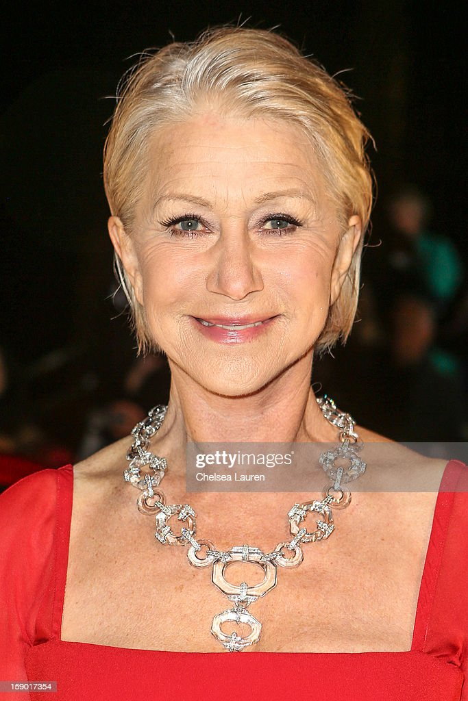 Actress Helen Mirren arrives in style with Mercedes-Benz at the Palm Springs International Film Festival at the Palm Springs Convention Center on January 5, 2013 in Palm Springs, California.