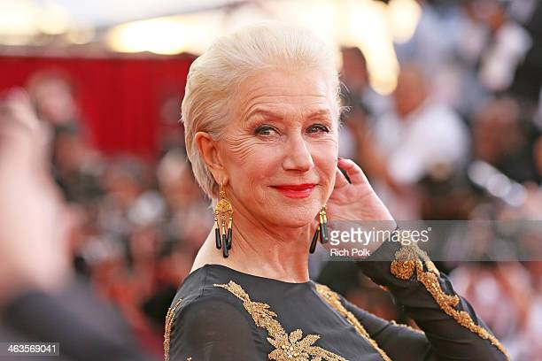 Actress Helen Mirren attends 20th Annual Screen Actors Guild Awards at The Shrine Auditorium on January 18 2014 in Los Angeles California