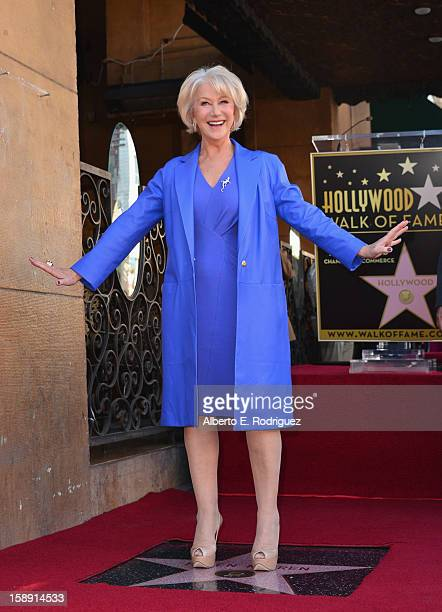 Actress Helen Mirren attends a ceremony honoring her with the 2488th star on the Hollywood Walk of Fame on January 3 2013 in Hollywood California