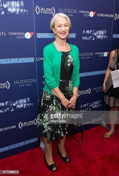 Actress Helen Mirren attends 'A Midsummer Night's Dream' New York premiere at DGA Theater on June 15 2015 in New York City