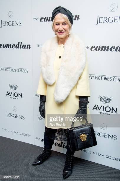 Actress Helen Mirren attends a Screening Of Sony Pictures Classics' 'The Comedian' at Museum of Modern Art on January 31 2017 in New York City