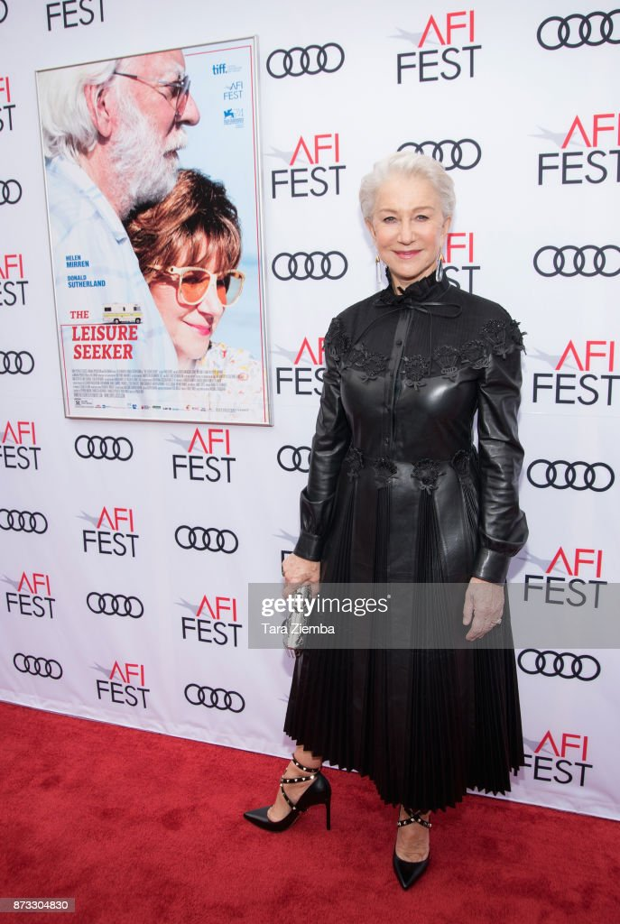 Actress Helen Mirren attends AFI FEST 2017 presented by Audi - screening of 'The Leisure Seeker' at the Egyptian Theatre on November 12, 2017 in Hollywood, California.