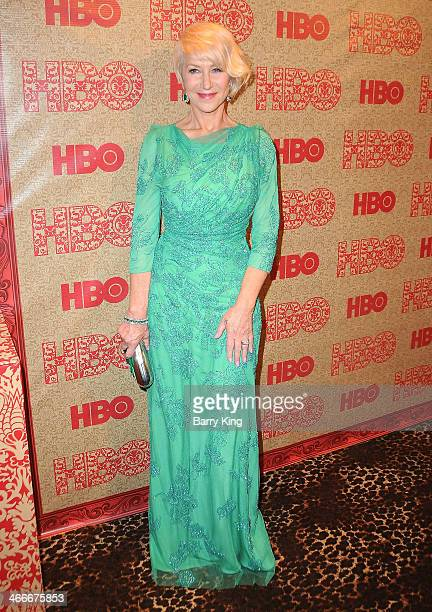 Actress Helen Mirren attends HBO's Golden Globe Awards after party on January 12 2014 at Circa 55 Restaurant in Beverly Hills California