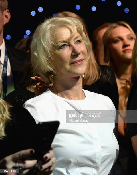 Actress Helen Mirren attends MusiCares Person of the Year honoring Tom Petty at the Los Angeles Convention Center on February 10 2017 in Los Angeles...