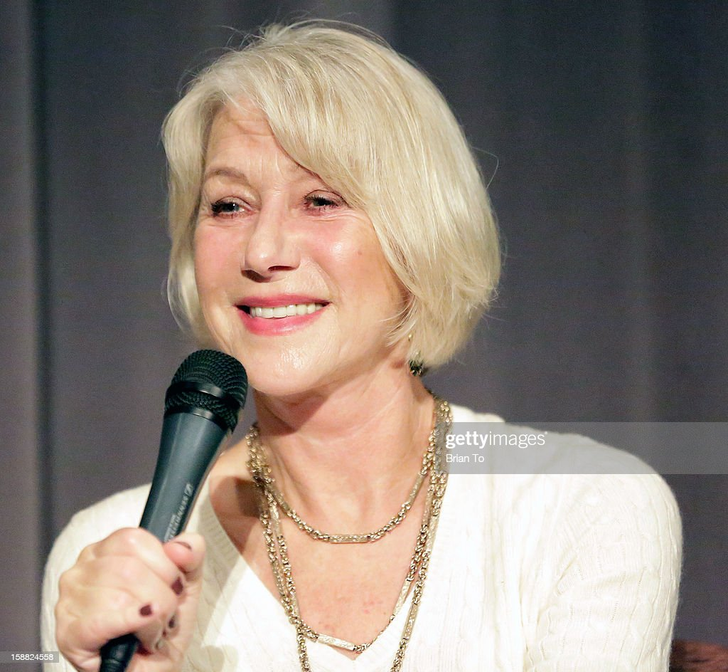 Actress Helen Mirren attends SAG awards screening of 'Hitchcock' at Directors Guild of America on December 30 2012 in Los Angeles California