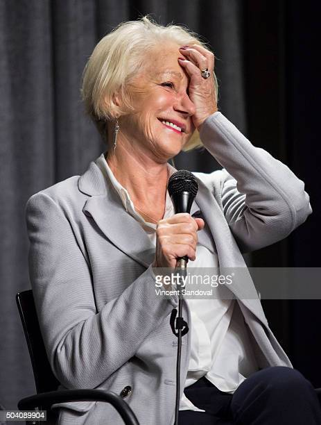Actress Helen Mirren attends SAGAFTRA Foundation conversations with Helen Mirren for 'Trumbo' at SAG Foundation Actors Center on January 8 2016 in...