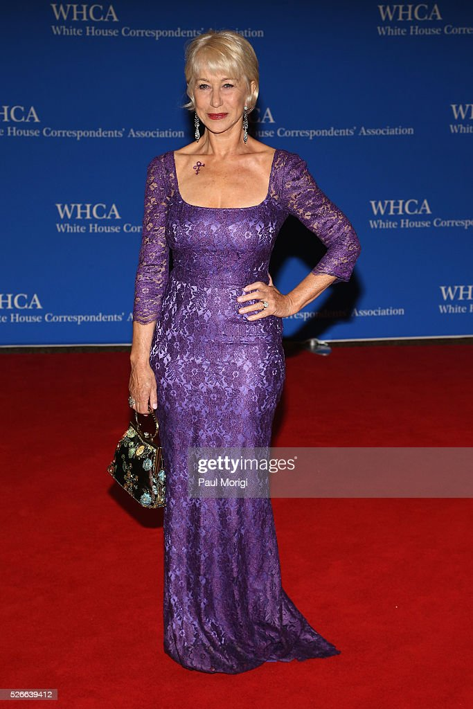 Actress Helen Mirren attends the 102nd White House Correspondents' Association Dinner on April 30, 2016 in Washington, DC.