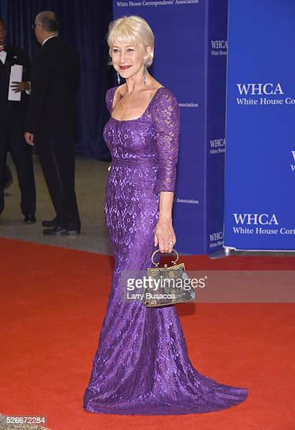 Actress Helen Mirren attends the 102nd White House Correspondents' Association Dinner on April 30 2016 in Washington DC