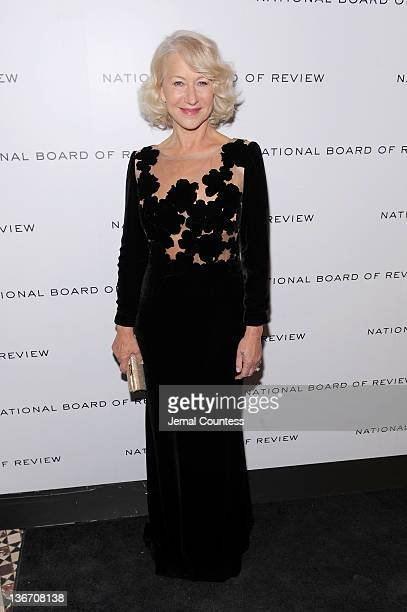 Actress Helen Mirren attends the 2011 National Board of Review Awards gala at Cipriani 42nd Street on January 10 2012 in New York City