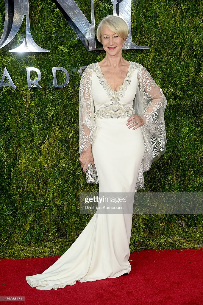 Actress <a gi-track='captionPersonalityLinkClicked' href=/galleries/search?phrase=Helen+Mirren&family=editorial&specificpeople=201576 ng-click='$event.stopPropagation()'>Helen Mirren</a> attends the 2015 Tony Awards at Radio City Music Hall on June 7, 2015 in New York City.