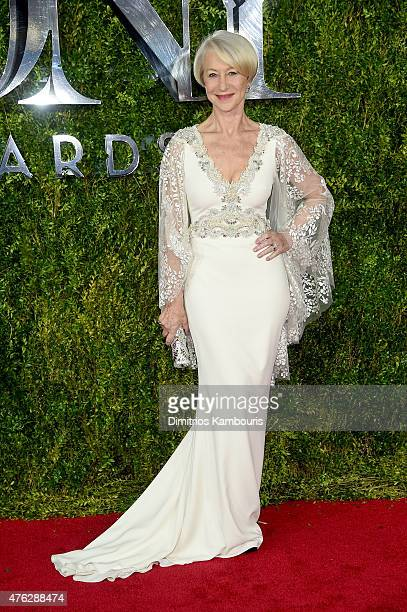 Actress Helen Mirren attends the 2015 Tony Awards at Radio City Music Hall on June 7 2015 in New York City