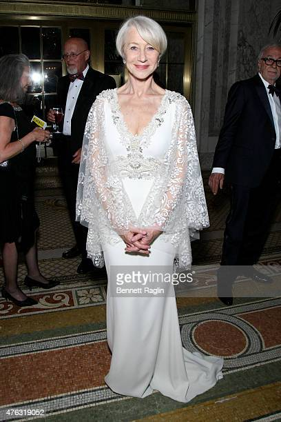 Actress Helen Mirren attends the 2015 Tony Awards Gala at The Plaza Hotel on June 7 2015 in New York City