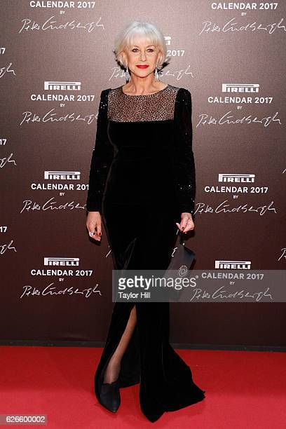 Actress Helen Mirren attends the 2016 Pirelli Calendar unveiling gala at La Cite Du Cinema on November 29 2016 in SaintDenis France
