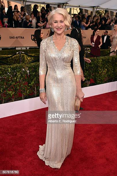 Actress Helen Mirren attends the 22nd Annual Screen Actors Guild Awards at The Shrine Auditorium on January 30 2016 in Los Angeles California