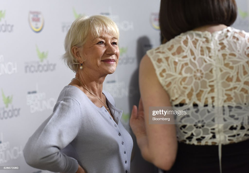 Actress Helen Mirren attends the 23rd Annual White House Correspondents' Garden Brunch in Washington, D.C., U.S., on Saturday, April 30, 2016. The event will raise awareness for Halcyon Incubator, an organization that supports early stage social entrepreneurs 'seeking to change the world' through an immersive 18-month fellowship program. Photographer: David Paul Morris/Bloomberg via Getty Images