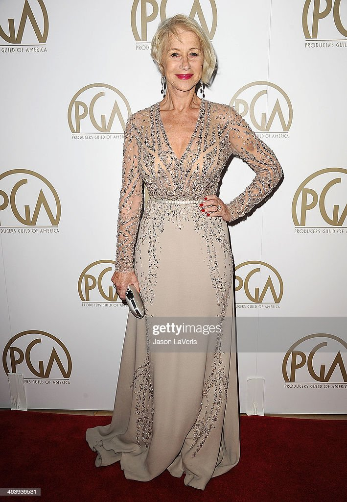Actress Helen Mirren attends the 25th annual Producers Guild Awards at The Beverly Hilton Hotel on January 19 2014 in Beverly Hills California