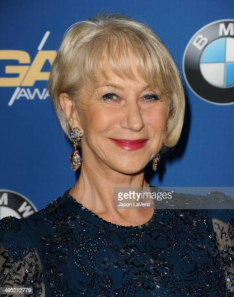 Actress Helen Mirren attends the 66th annual Directors Guild of America Awards at the Hyatt Regency Century Plaza on January 25 2014 in Century City...