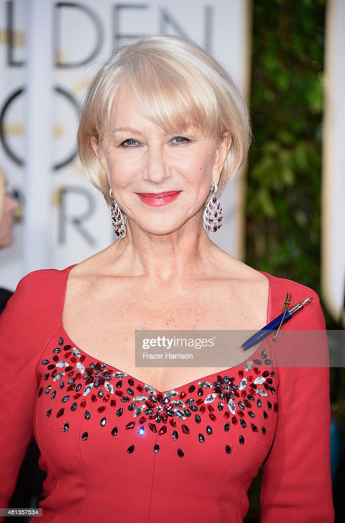 Actress Helen Mirren attends the 72nd Annual Golden Globe Awards at The Beverly Hilton Hotel on January 11, 2015 in Beverly Hills, California.