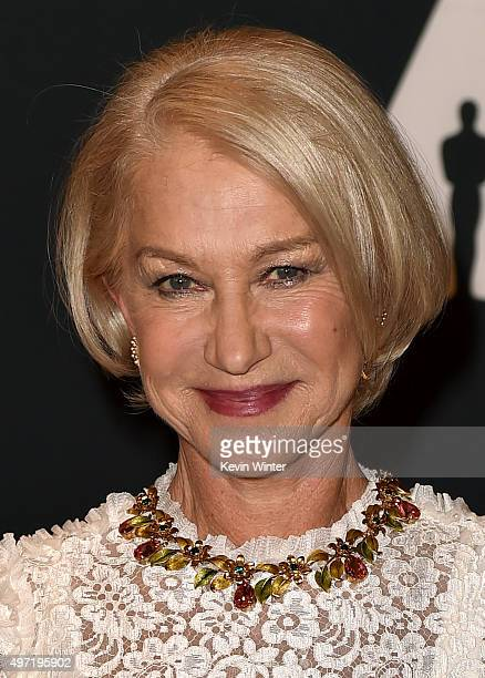 Actress Helen Mirren attends the Academy of Motion Picture Arts and Sciences' 7th annual Governors Awards at The Ray Dolby Ballroom at Hollywood...