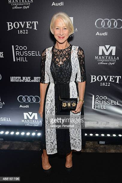 Actress Helen Mirren attends the Artists for Peace and Justice festival gala during the 2015 Toronto International Film Festival at Casa Loma on...