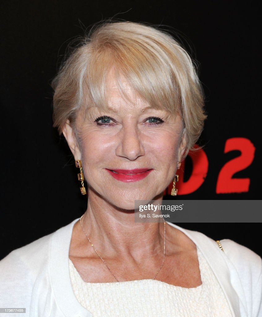Actress <a gi-track='captionPersonalityLinkClicked' href=/galleries/search?phrase=Helen+Mirren&family=editorial&specificpeople=201576 ng-click='$event.stopPropagation()'>Helen Mirren</a> attends The Cinema Society And Bally Host A Screening Of Summit Entertainment's 'Red 2' at The Museum of Modern Art on July 16, 2013 in New York City.