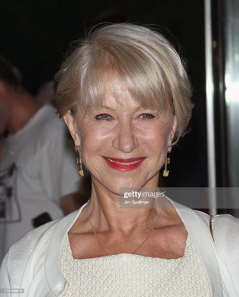 Actress <a gi-track='captionPersonalityLinkClicked' href=/galleries/search?phrase=Helen+Mirren&family=editorial&specificpeople=201576 ng-click='$event.stopPropagation()'>Helen Mirren</a> attends The Cinema Society & Bally screening of Summit Entertainment's 'Red 2' at the Museum of Modern Art on July 16, 2013 in New York City.