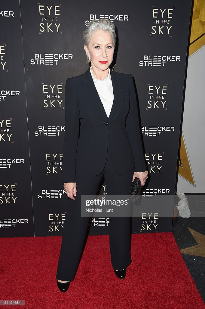Actress Helen Mirren attends the 'Eye In The Sky' New York Premiere at AMC Loews Lincoln Square 13 theater on March 9, 2016 in New York City.