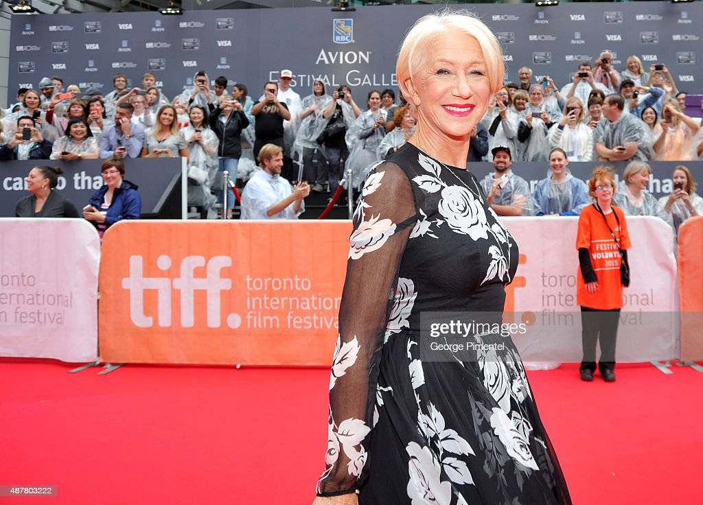 Actress Helen Mirren attends the 'Eye In The Sky' premiere during the 2015 Toronto International Film Festival at Roy Thomson Hall on September 11, 2015 in Toronto, Canada.