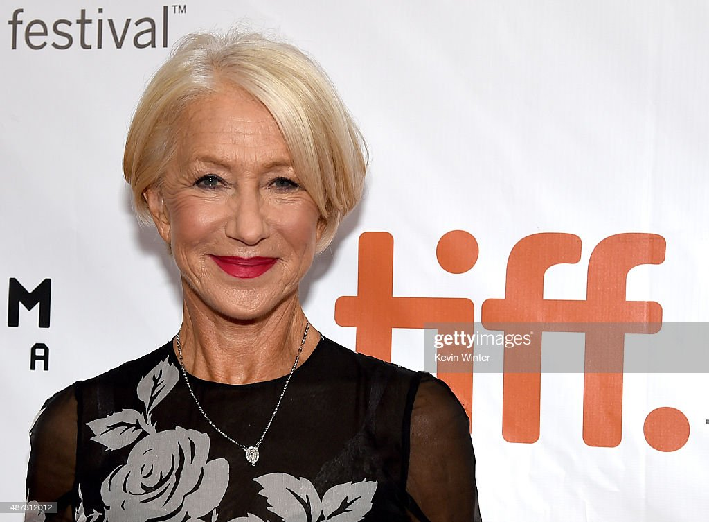 Actress <a gi-track='captionPersonalityLinkClicked' href=/galleries/search?phrase=Helen+Mirren&family=editorial&specificpeople=201576 ng-click='$event.stopPropagation()'>Helen Mirren</a> attends the 'Eye in the Sky' premiere during the 2015 Toronto International Film Festival at Roy Thomson Hall on September 11, 2015 in Toronto, Canada.