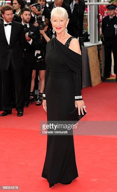 Actress Helen Mirren attends the Opening Night Premiere of 'Robin Hood' at the Palais des Festivals during the 63rd Annual International Cannes Film...
