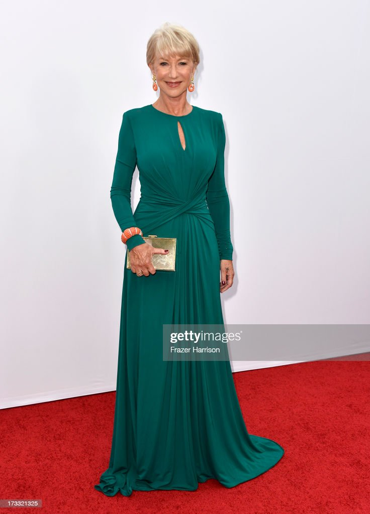 Actress <a gi-track='captionPersonalityLinkClicked' href=/galleries/search?phrase=Helen+Mirren&family=editorial&specificpeople=201576 ng-click='$event.stopPropagation()'>Helen Mirren</a> attends the premiere of Summit Entertainment's 'RED 2' at Westwood Village on July 11, 2013 in Los Angeles, California.