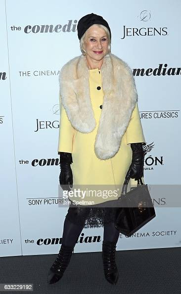 Actress Helen Mirren attends the screening of Sony Pictures Classics' 'The Comedian' hosted by The Cinema Society with Avion and Jergens at Museum of...
