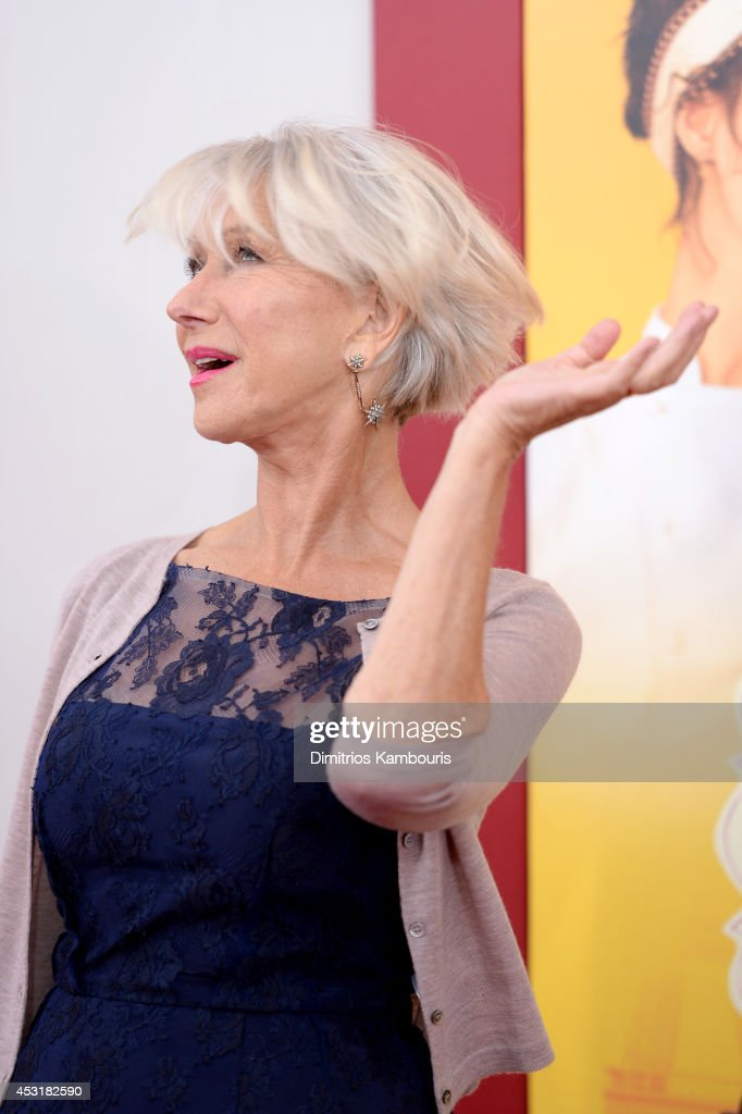 Actress <a gi-track='captionPersonalityLinkClicked' href=/galleries/search?phrase=Helen+Mirren&family=editorial&specificpeople=201576 ng-click='$event.stopPropagation()'>Helen Mirren</a> attends the 'The Hundred-Foot Journey' New York premiere at Ziegfeld Theater on August 4, 2014 in New York City.