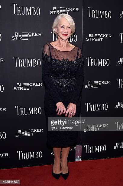 Actress Helen Mirren attends the 'Trumbo' New York premiere at MoMA Titus Two on November 3 2015 in New York City