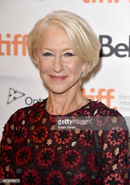 Actress Helen Mirren attends the 'Trumbo' premiere during the 2015 Toronto International Film Festival at The Elgin on September 12 2015 in Toronto...