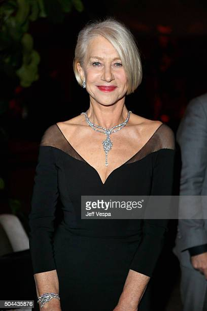 Actress Helen Mirren attends The Weinstein Company and Netflix Golden Globe Party presented with DeLeon Tequila Laura Mercier Lindt Chocolate Marie...