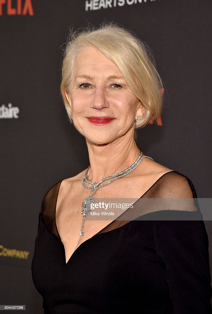 Actress <a gi-track='captionPersonalityLinkClicked' href=/galleries/search?phrase=Helen+Mirren&family=editorial&specificpeople=201576 ng-click='$event.stopPropagation()'>Helen Mirren</a> attends The Weinstein Company and Netflix Golden Globe Party, presented with DeLeon Tequila, Laura Mercier, Lindt Chocolate, Marie Claire and Hearts On Fire at The Beverly Hilton Hotel on January 10, 2016 in Beverly Hills, California.
