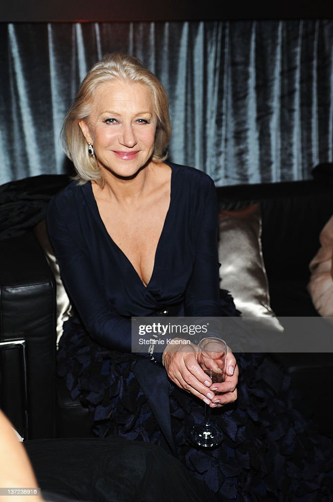 Actress <a gi-track='captionPersonalityLinkClicked' href=/galleries/search?phrase=Helen+Mirren&family=editorial&specificpeople=201576 ng-click='$event.stopPropagation()'>Helen Mirren</a> attends The Weinstein Company Celebration of the 2012 Golden Globes presented by Chopard held at The Beverly Hilton hotel on January 15, 2012 in Beverly Hills, California.