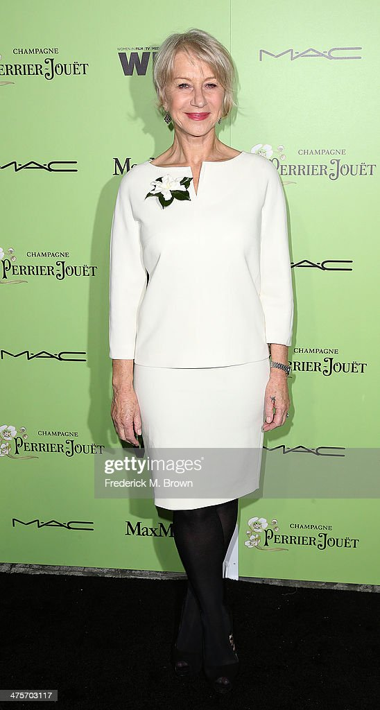 Actress <a gi-track='captionPersonalityLinkClicked' href=/galleries/search?phrase=Helen+Mirren&family=editorial&specificpeople=201576 ng-click='$event.stopPropagation()'>Helen Mirren</a> attends the Women in Film Pre-Oscar Cocktail Party Presented by Perrier-Jouet, MAC & MaxMara at the Fig & Olive Melrose Place on February 28, 2014 in West Hollywood, California.
