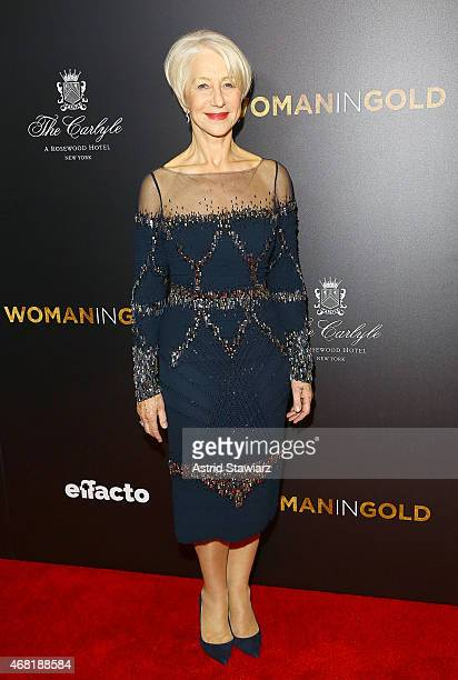 Actress Helen Mirren attends 'Woman In Gold' New York Premiere at The Museum of Modern Art on March 30 2015 in New York City