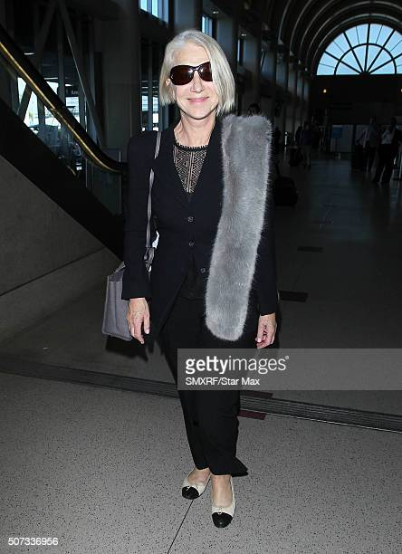 Actress Helen Mirren is seen on January 28 2016 in Los Angeles California