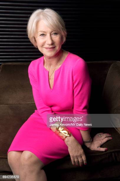 Actress Helen Mirren posing for the NY Daily News on June 22 in New York City