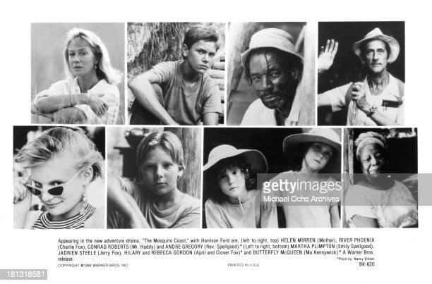 Actress Helen Mirren River Phoenix Conrad Roberts Andre Gregory Martha Plimpton Jadrien Steele Hilary Gordon and Rebecca Gordon Butterfly McQueen on...
