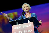 Actress Helen Mirren speaks onstage at the 27th Annual Palm Springs International Film Festival Awards Gala at Palm Springs Convention Center on...