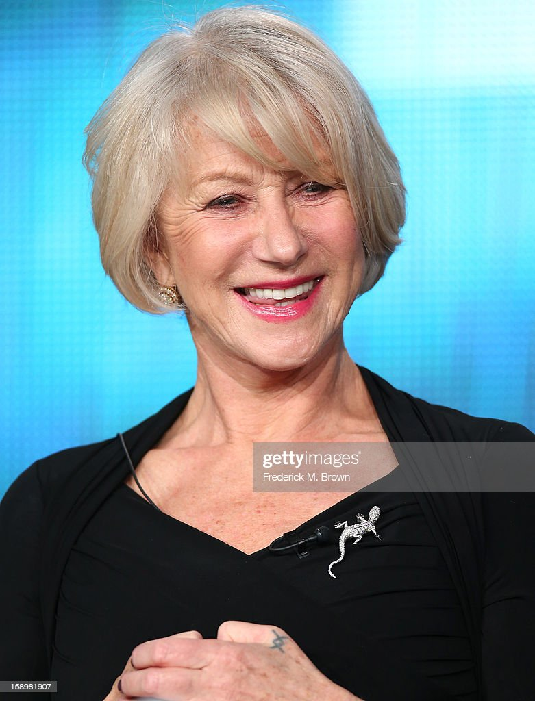Actress Helen Mirren speaks onstage during the 'Phil Spector' panel discussion at the HBO portion of the 2013 Winter TCA Tourduring 2013 Winter TCA Tour - Day 1 at Langham Hotel on January 4, 2013 in Pasadena, California.