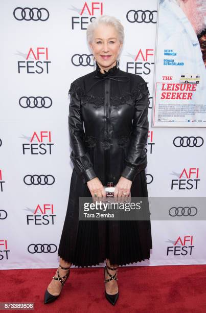 Actress Helen Mirren wearing a dress by fashion designer Valentino attends the screening of 'The Leisure Seeker' at AFI FEST 2017 Presented By Audi...